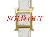 Đồng hồ Hermes HH1.101 dây da trắng