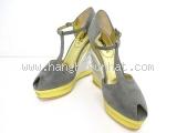 Sandal cao gót Yves Saint Laurent  size 37 1/2 xám bạc