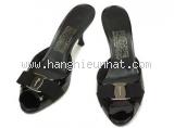 Dép cao gót Ferragamo size 5 1/2 màu đen