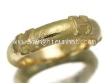 Nhẫn Hermes vàng K18YG size 49