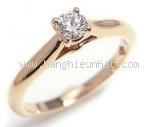Nhẫn kim cương Cartier 0.2ct vàng hồng