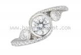 Nhẫn Cartier kim cương 0.54ct Pt950 size 48