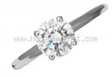 Nhẫn De Beers kim cương 0.78ct Pt950 size 9