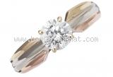 Nhẫn Cartier kim cương 0.55ct 3 màu size 50