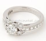 Nhẫn Cartier kim cương 0.50ct PT950 size 48