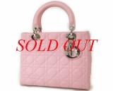 Túi lady Dior màu hồng lambskin