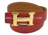 Thắt lưng Hermes màu đỏ trà size 65