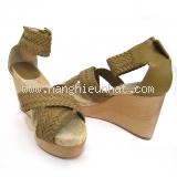 S Sandal Hermes size 38 màu be vàng