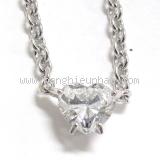 Vòng cổ Cartier K18WG kim cương 0,70ct