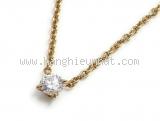 Vòng cổ Cartier K18YG kim cương 0,70ct