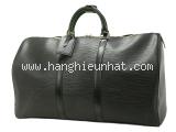 SA Túi du lịch Louis Vuitton epi keepall 55 màu đen