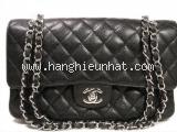 Túi xách Chanel classic màu đen khóa bạc