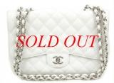 Túi xách Chanel jumbo màu trắng bạc