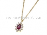 Vòng cổ TIFFANY & Co đá ruby kim cương K18YG