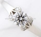 Nhẫn Cartier Pt950 kim cương 0.46ct size 48