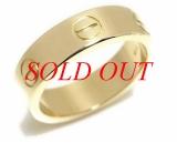 Nhẫn Cartier love ring size 56 vàng vàng