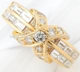 Nhẫn Tiffany kim cương vàng 18K