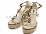 Sandal cao gót Louis vutton 37 1/2 màu kem