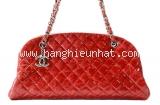 Túi xách Chanel bowling màu đỏ
