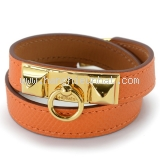 MS3608 Vòng tay Hermes da màu cam