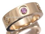 Nhẫn Cartier love ring saphia hồng