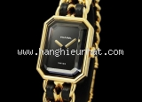 Đồng hồ Chanel dây xích da đen cỡ L