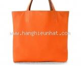 Túi xách Hermes 2 màu cam nâu