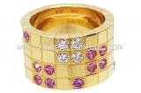 Nhẫn Cartier rubi diamond
