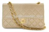 Túi xách Chanel lambskin màu kem