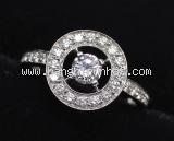 Nhẫn Boucheron 750WG kim cương size 53