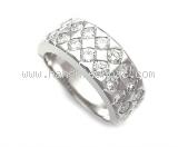 Nhẫn Boucheron K18WG kim cương size 19