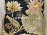 Khăn lụa Ferragamo hoa viền trắng