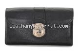 Ví da Louis Vuitton màu đen mahina iris