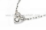 Vòng cổ Cartier trái tim 750WG kim cương