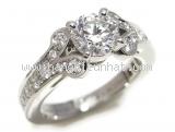 Nhẫn Cartier Pt950 kim cương 0.66ct size 44