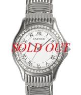 Đồng hồ Cartier K18WG nam kim cương