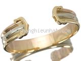 Vòng tay Cartier 3 màu vàng K18YG - WG - PG