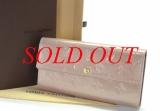 Ví Louis Vuitton monogram vernis M91764 kem hồng