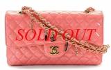 Túi xách Chanel classic màu hồng