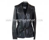 Áo khoác da Ferragamo size 42 màu đen