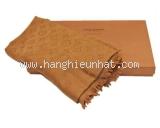 Khăn Louis Vuitton camel màu nâu