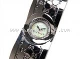 Đồng hồ Gucci YA112 kim cương mặt sò xanh