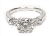 Nhẫn Harry winston size 5 Pt950 kim cương 0.71ct