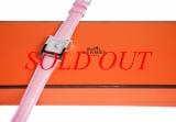 MS4142 Đồng hồ Hermes dây da hồng