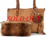 Túi xách Gucci tote da lông chồn 269878