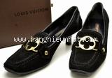 Giày Louis Vutton size 35 1/2 màu đen da lộn