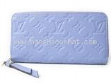 S Ví da Louis Vuitton zippy mauf xanh M60570