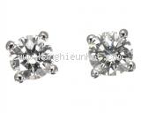 Bông tai Tiffany&Co Pt950 kim cương 0.15ct
