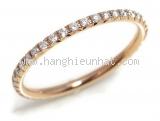 Nhẫn Tiffany&Co metro ring K18PG kim cương size 9.5