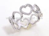 Nhẫn Tiffany&Co K18WG kim cương trái tim